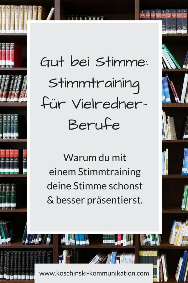 Stimmtraining für Lehrer und andere Vielredner-Berufe.