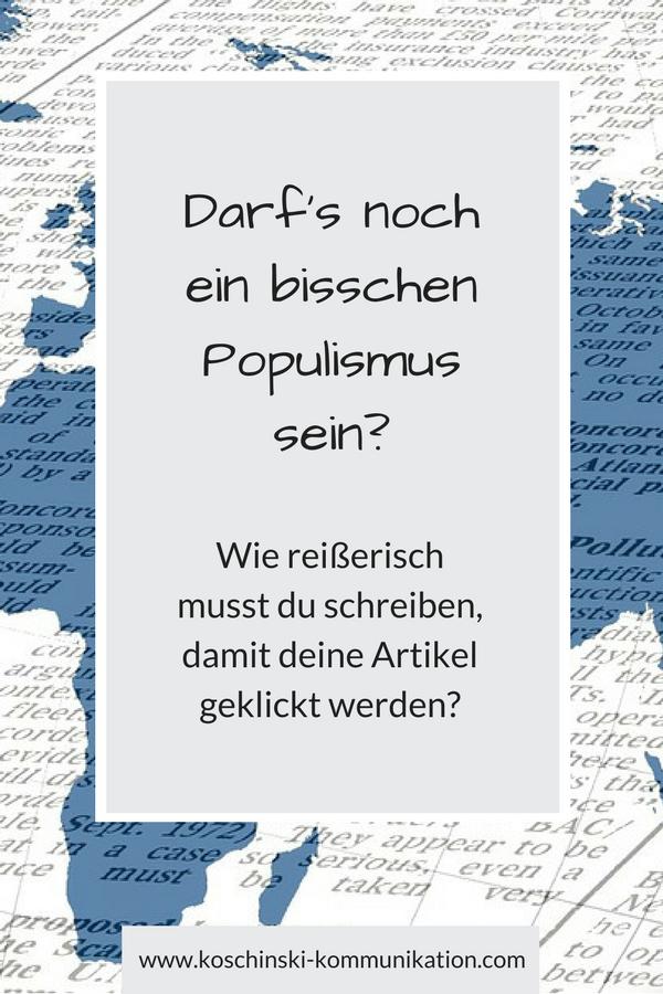 Wie viel Clickbait ist okay? Wo fängt Populismus an? Und geht es auch ohne?