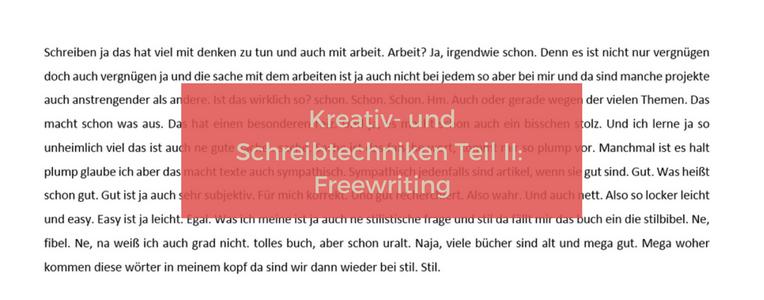 Freewriting hilft gegen Schreibblockade.