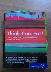 Buchcover Think Content!
