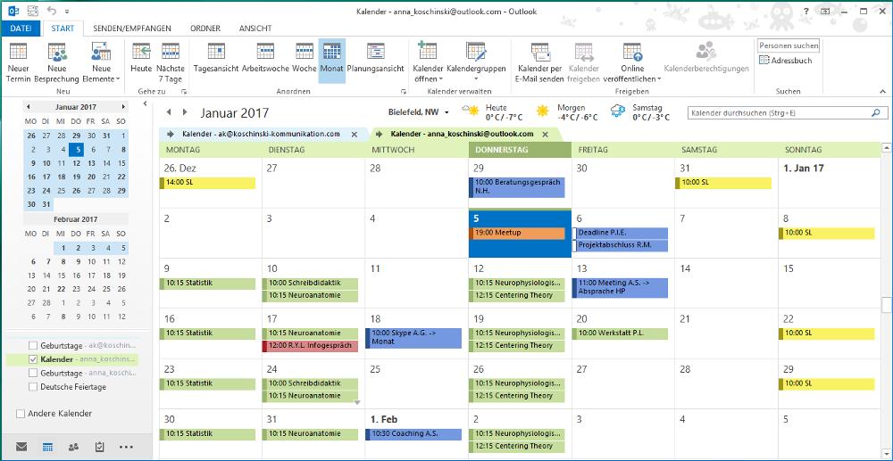 Ein Kalender in Outlook hat viele Vorteile - wenn man sie denn nutzt.