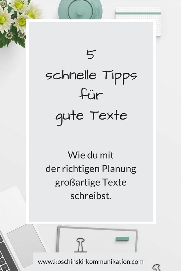 Schreibe großartige Blogartikel: Schnelle Tipps für gute Texte.
