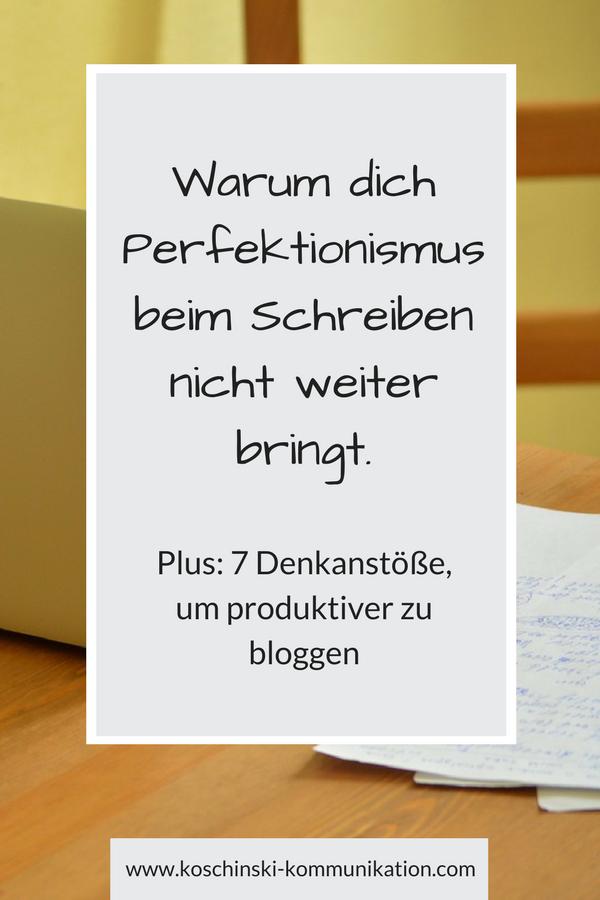 Perfektionismus beim Schreiben? Wie du ihn los wirst.
