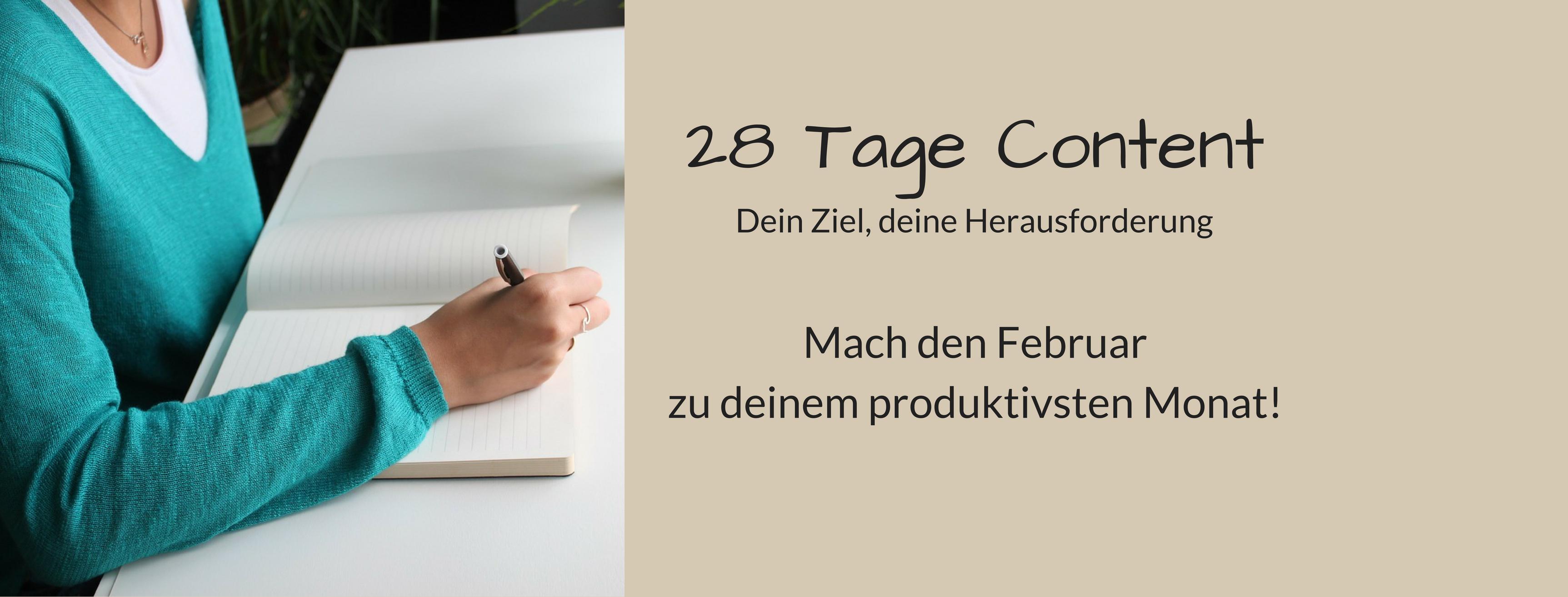 28 Tage Content für mehr Produktivität und mehr erledigt bekommen.
