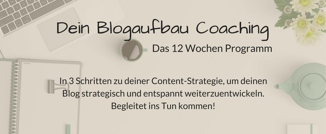 Mit meinem Blogaufbau Coaching entwicklelst du dir deine ganz persönliche Blog-Strategie.