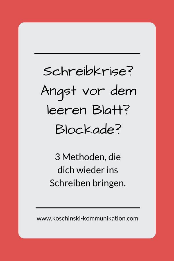 Die besten kreativen Methoden gegen Schreibblockade.