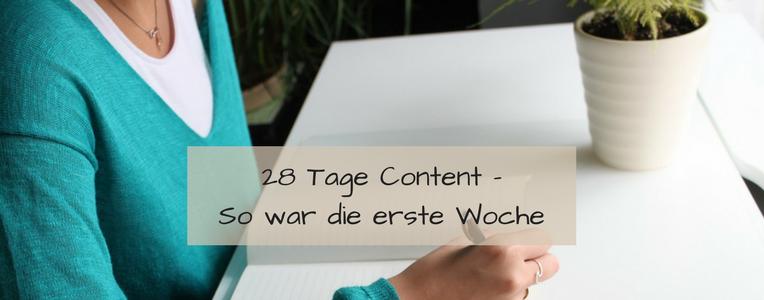 Regelmäßig bloggen und schreiben mit der Aktion 28 Tage Content.