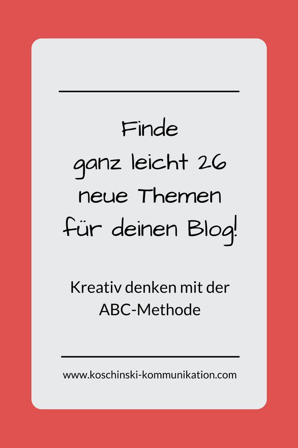 Unverbrauchte Themen für den Blog finden? So geht's!