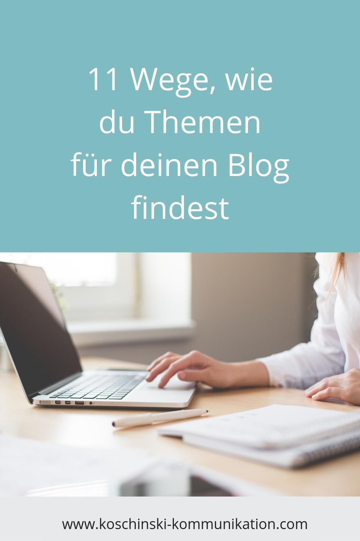 Blog Themen finden, Themen für Artikel finden