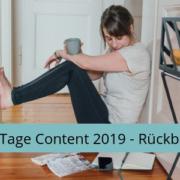 Entspannt bloggen, produktiv schreiben, 28 Tage Content 2019