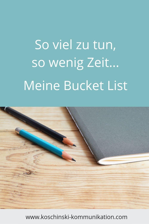 Bucket List schreiben, Liste, Löffel-Liste, Commitment