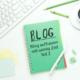 Ziele beim Bloggen, Blog aufbauen mit wenig Zeit, Motivation beim Bloggen, Blogaufbau