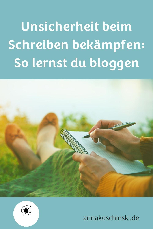 Unsicherheit beim Bloggen, Schreiben lernen, Bloggen lernen, Schreibdidaktik