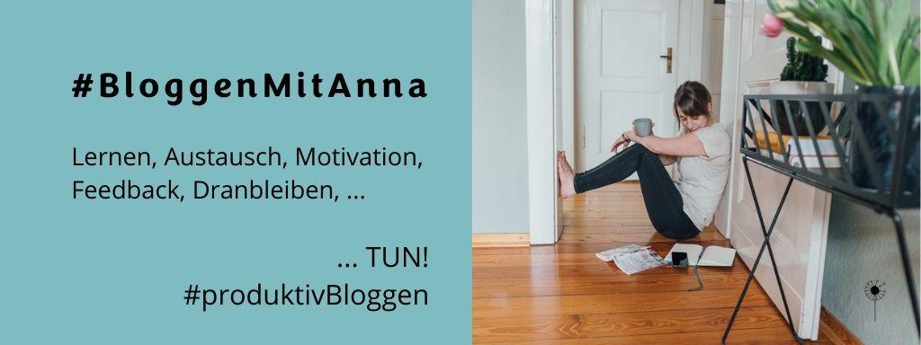 Bloggen mit Anna, produktiv bloggen, Community, Blogaufbau, dranbleiben, regelmäßig bloggen