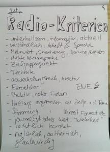 Kriterien für gutes Radio